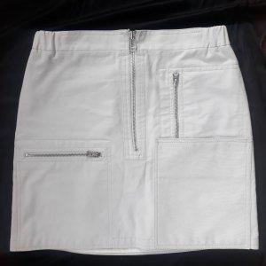 Acne Minifalda gris claro
