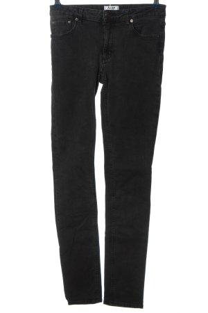 Acne Studios Jeansy rurki czarny W stylu casual