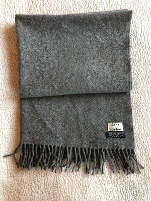 Acne Wollen sjaal grijs