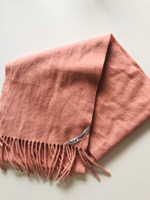 Acne Écharpe en laine rose-rouge clair