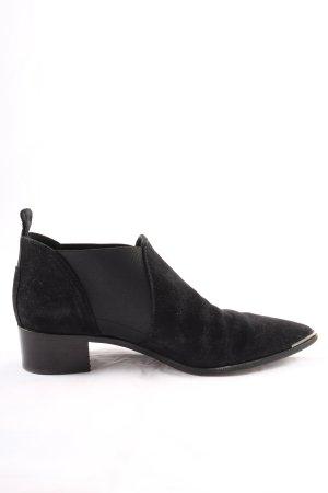 Acne Studios Wciągane buty za kostkę czarny W stylu casual