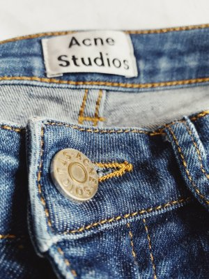 Acne Jeans skinny bleu foncé
