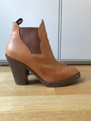 Acne Booties cognac-coloured leather