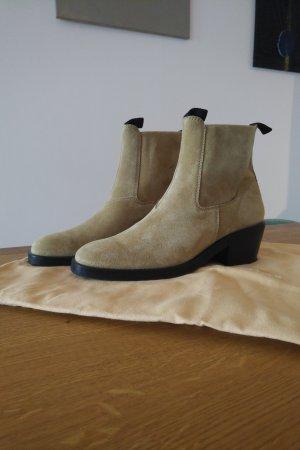 Acne Studios Botas de tobillo marrón arena Cuero