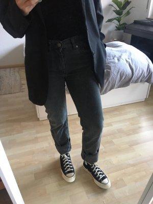 Acne Jeans Jeansy z prostymi nogawkami antracyt