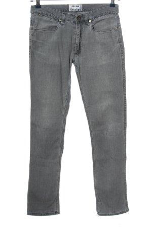 Acne Studios Jeansy z prostymi nogawkami jasnoszary W stylu casual