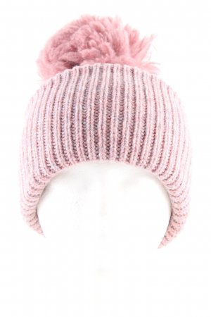 Acne Knitted Hat pink cable stitch casual look