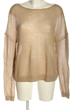Acne Studios Sweter z dzianiny brązowy W stylu casual
