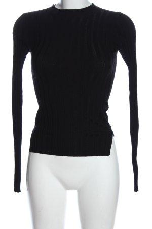 Acne Studios Sweter z dzianiny czarny W stylu casual