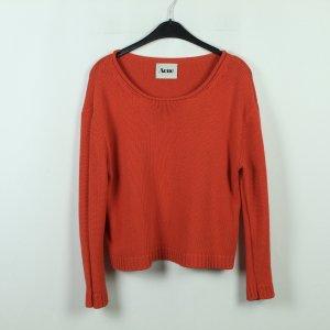 Acne Studios Sweter oversize czerwony Bawełna