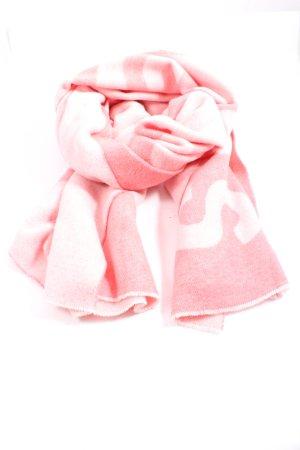 Acne Studios Szal z dzianiny różowy-biały Wydrukowane logo W stylu casual