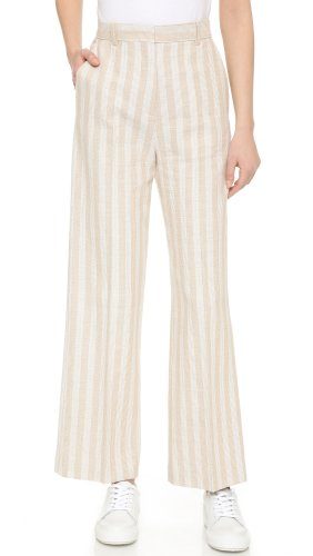 Acne Pleated Trousers multicolored