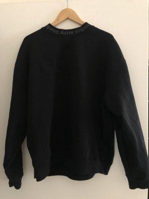 Acne Studios Sweter oversize czarny Bawełna