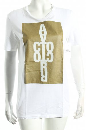 Acne T-Shirt weiß Motivdruck Street-Fashion-Look