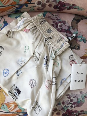 Acne Pantalon Marlene beige clair-blanc cassé