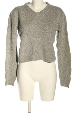 Acne Studios Wełniany sweter jasnoszary Melanżowy W stylu casual