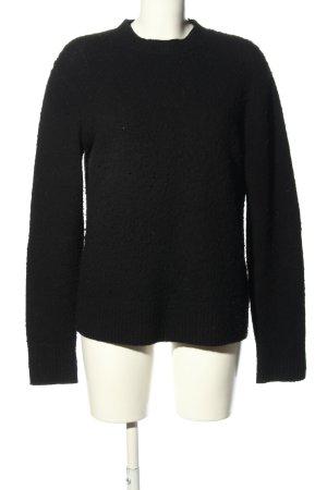 Acne Studios Wełniany sweter czarny W stylu casual
