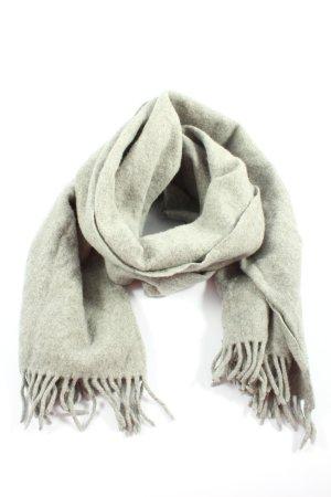 Acne Studios Écharpe en laine gris clair moucheté style décontracté
