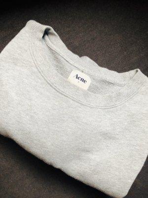Acne Sweatshirt gris clair coton