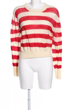 Acne Sweat Shirt red-cream striped pattern casual look