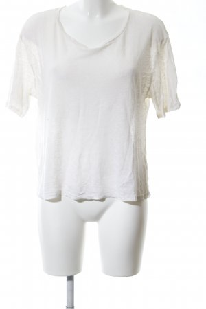 Acne Camiseta blanco moteado look casual