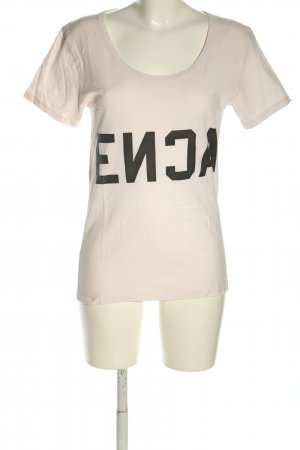 Acne T-Shirt cream-black printed lettering casual look