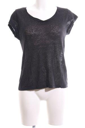 Acne T-Shirt schwarz meliert Casual-Look