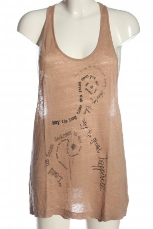 Acne Tank Top nude-black printed lettering casual look