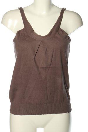 Acoté Haut tricotés brun style décontracté