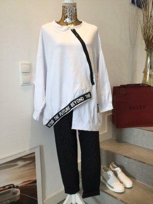 Camisa holgada blanco-negro
