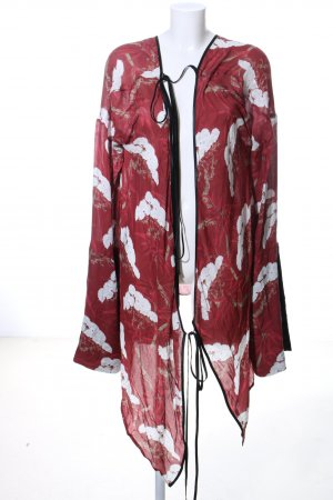 Act n1 Kimono-Bluse rot-weiß Allover-Druck Casual-Look