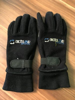 Thermal Gloves black-light grey