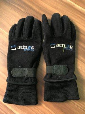 Gants thermiques noir-gris clair