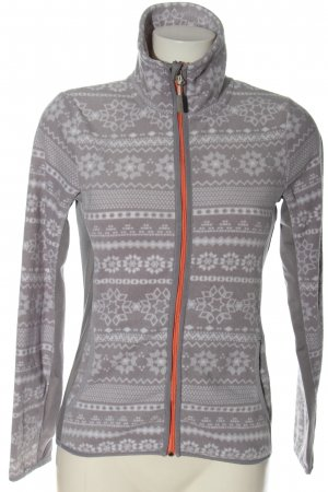 active by Tchibo Fleece Jackets light grey-white allover print casual look