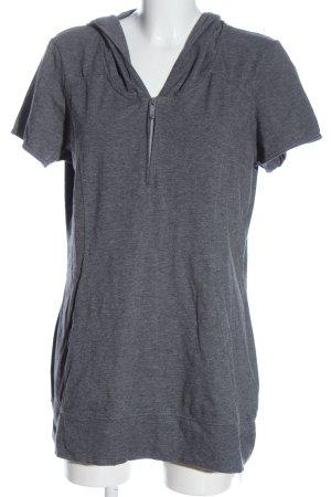 active Blusa con capucha gris claro moteado look casual