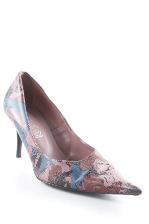 active Peep Toe Pumps roze-blauw abstracte print extravagante stijl