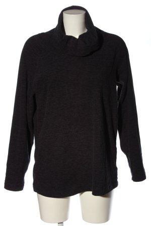 active Turtleneck Sweater black flecked casual look