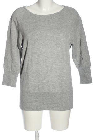 active Kraagloze sweater lichtgrijs gestippeld casual uitstraling