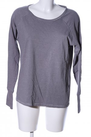 active Sweatshirt lila meliert Casual-Look