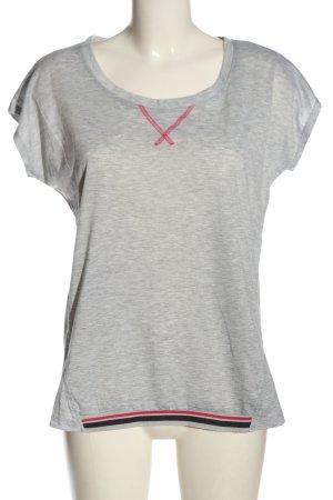 Active Touch T-shirt gris clair moucheté style décontracté
