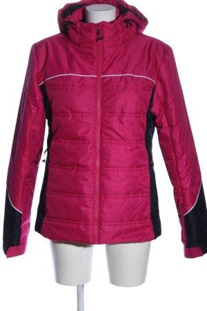 Active Touch Winterjack roze-zwart quilten patroon casual uitstraling