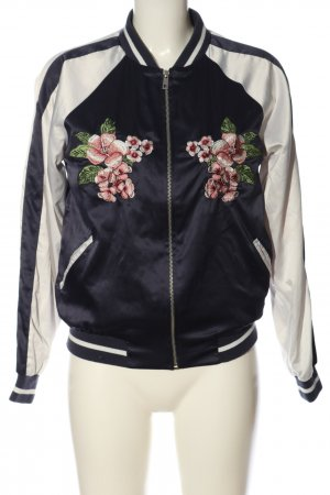 Active USA Chaqueta bomber azul-blanco estampado floral look casual