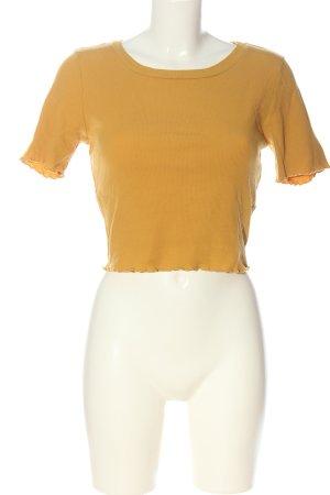 Active USA Camicia cropped giallo pallido stile casual