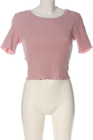 Active USA Camicia cropped rosa stile casual