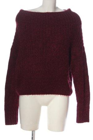 Active USA Pull tricoté rouge moucheté style décontracté