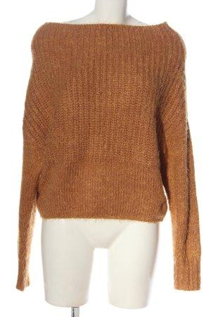 Active USA Pull tricoté bronze moucheté style décontracté