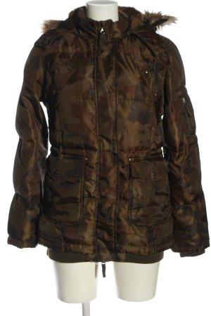 Active wear Kurtka zimowa brązowy Wzór moro W stylu casual
