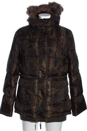 Active wear Kurtka zimowa brązowy Pikowany wzór W stylu casual