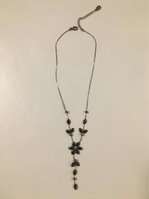 Accessorize Collar negro-color plata tejido mezclado