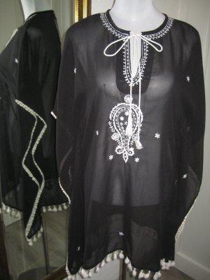 Ada Gatti Blusa a tunica nero-bianco